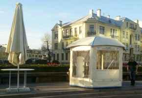 мобильный павильон с купольной крышей
