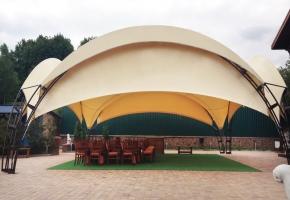 большой шатер для свадьбы