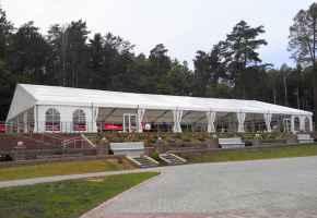 алюминиевый двухскатный павильон