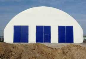 Ангар с полукруглой крышей