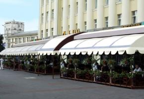 открытые площадки при кафе и ресторанах