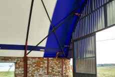 Готовые ангары с полукруглой крышей от компании RDV