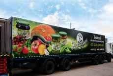 Реклама на тентах фургонов