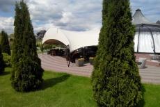 Мембранная конструкция для летнего кафе от Реддавей групп