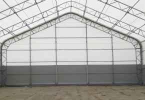 Быстровозводимые ангары со скругленной крышей от компании RDV