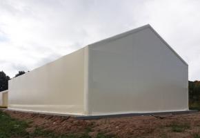Готовые ангары с двухскатной крышей: фото