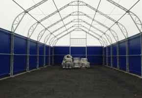 Ангары с двускатной скругленной крышей от компании RDV