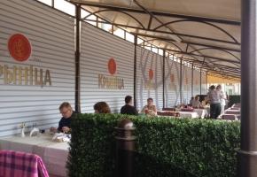 Озеленение летнего кафе. Сад на террасе от Реддавей групп